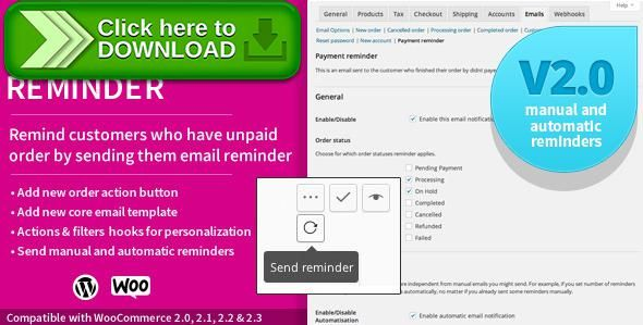 Free Nulled Woocommerce Payment Reminder Download