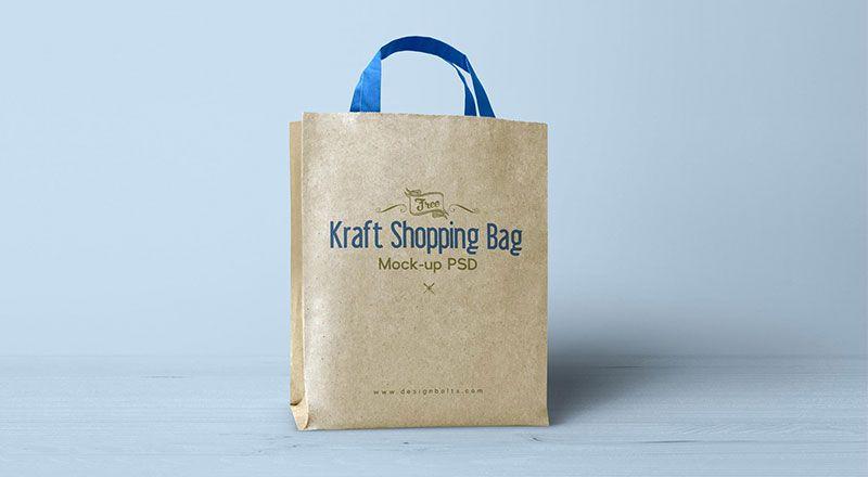 Download Free Kraft Paper Shopping Bag Mockup Psd Paper Shopping Bag Bag Mockup Bags
