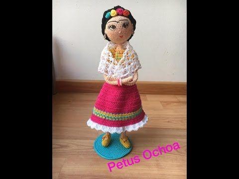 Amigurumis De Frida Kahlo : Amigurumi frida kahlo almohadón tejido al crochet en