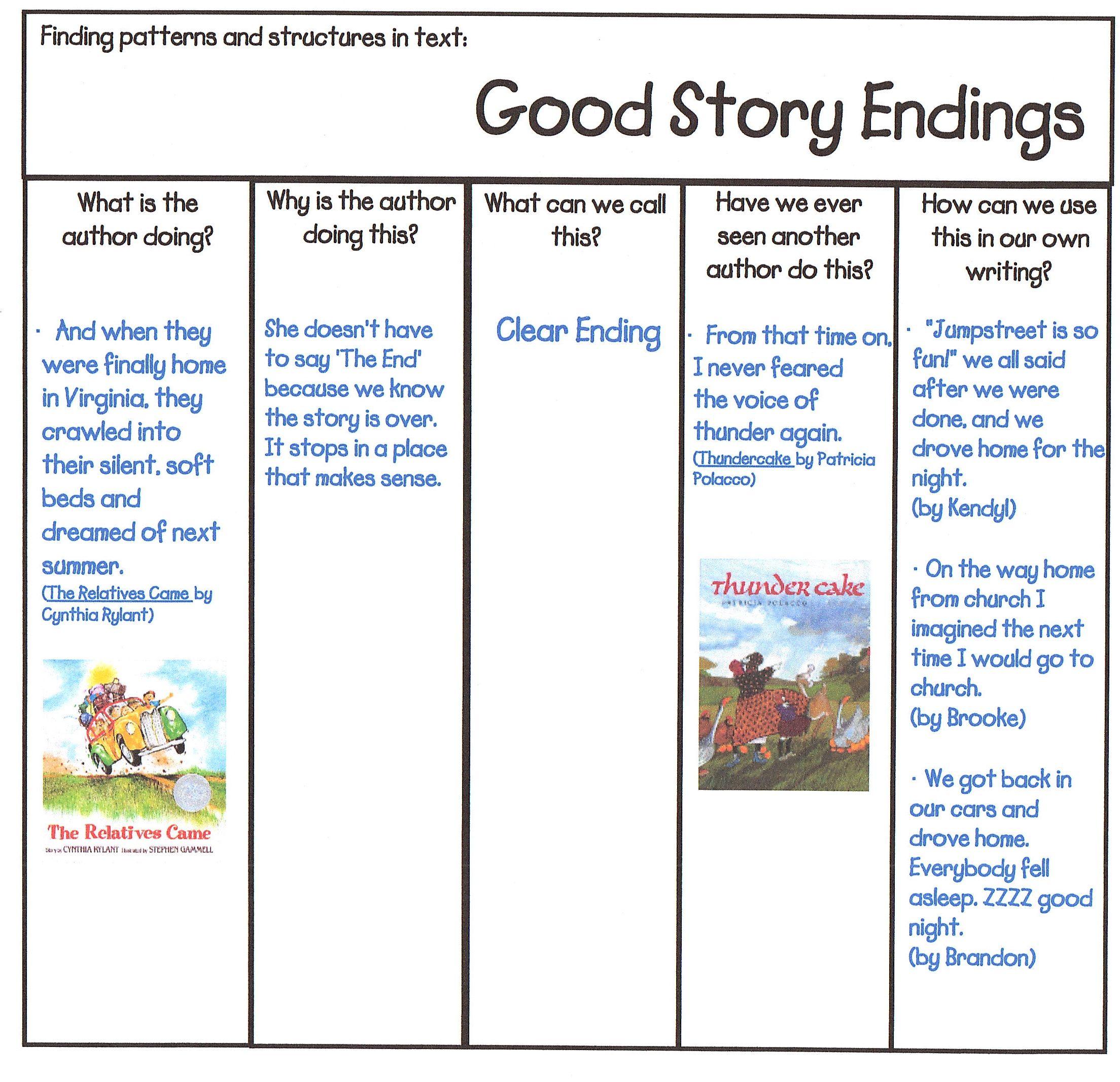 narrative ending examples