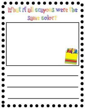 The Crayon Box That Talked Writing Activity Crayon Themed