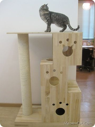 Cute #cat Tree With Cat Head Shape Window To The House Or Perch
