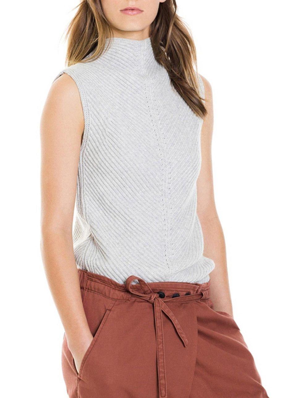 Rib Deflected Sleeveless Knit | David Jones | Fashion ...