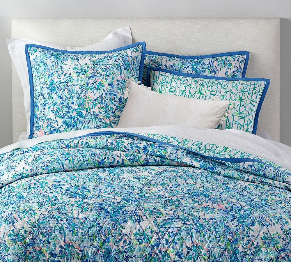 Lilly Pulitzer Cabana Cocktail Reversible Cotton Quilt