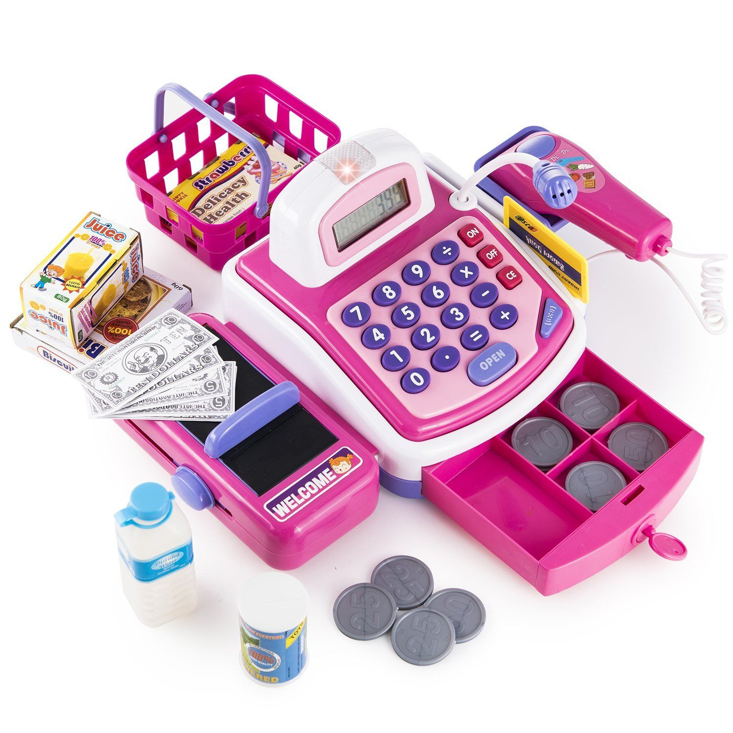 Prextex Pretend Play Electronic Toy Cash