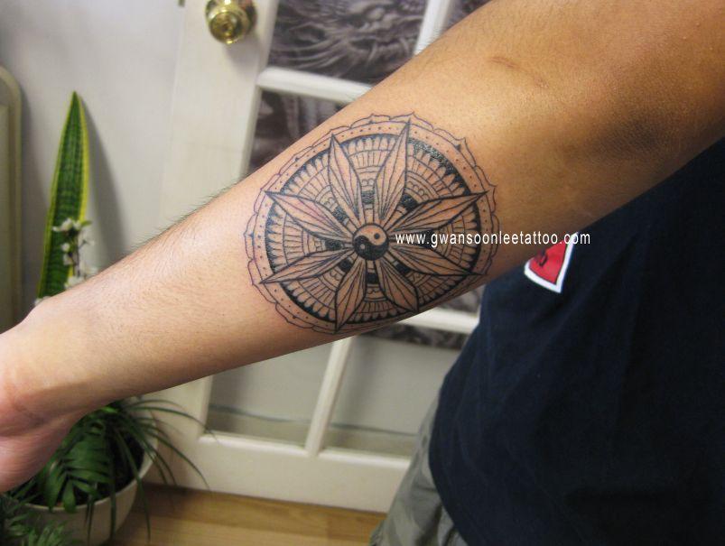 Buddhist Symbol Tattoo On Arm Buddhist Tattoo Pinterest