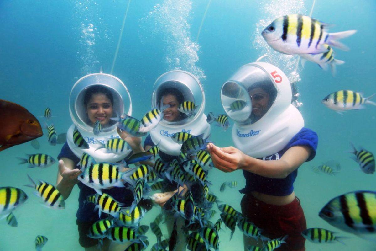 Sea Walk in Andaman Sea walk, Andaman tour, Underwater sea