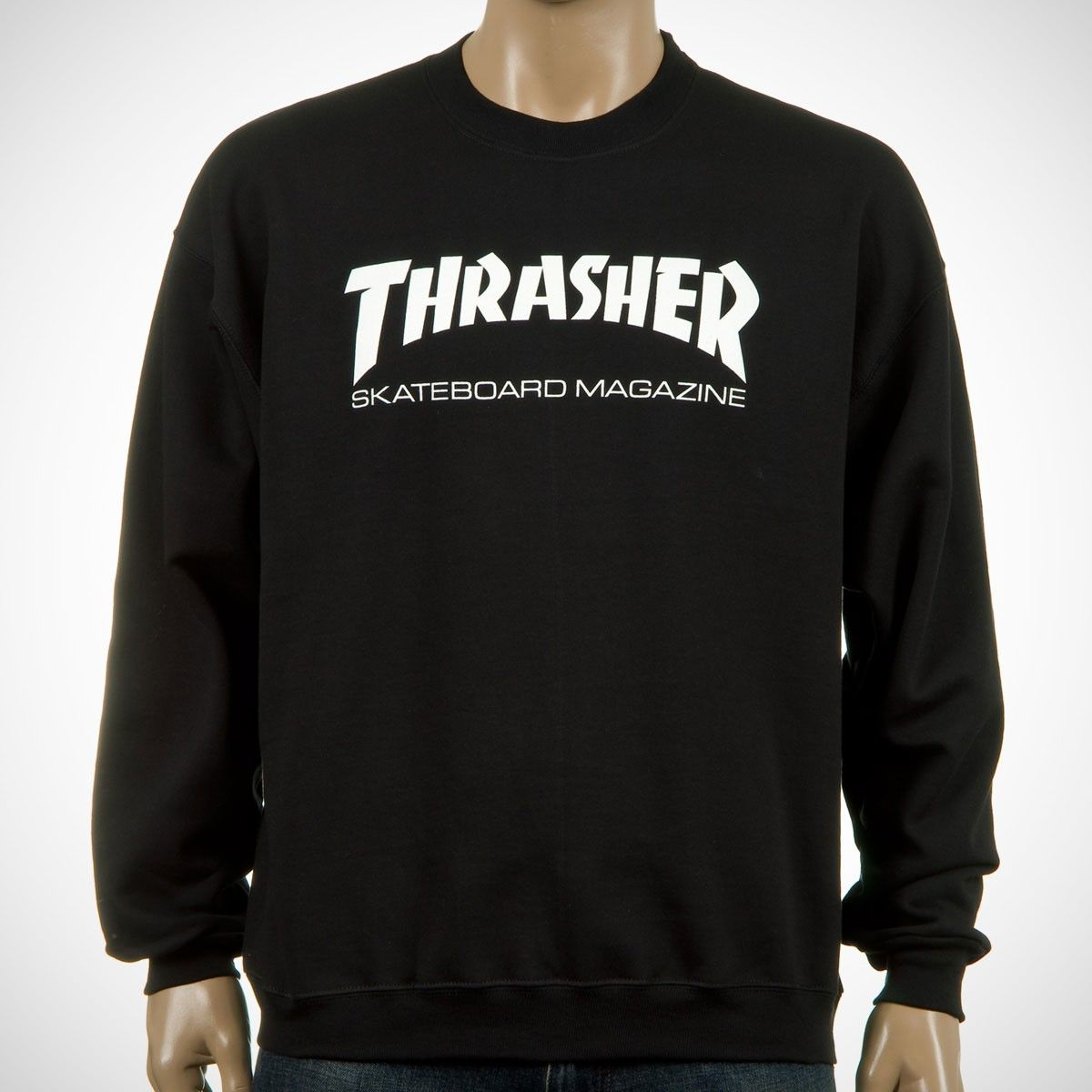 Thrasher Skate Mag Logo Crew Sweat Black Thrasher Thrasher Skate Fall Outfits [ 1200 x 1200 Pixel ]