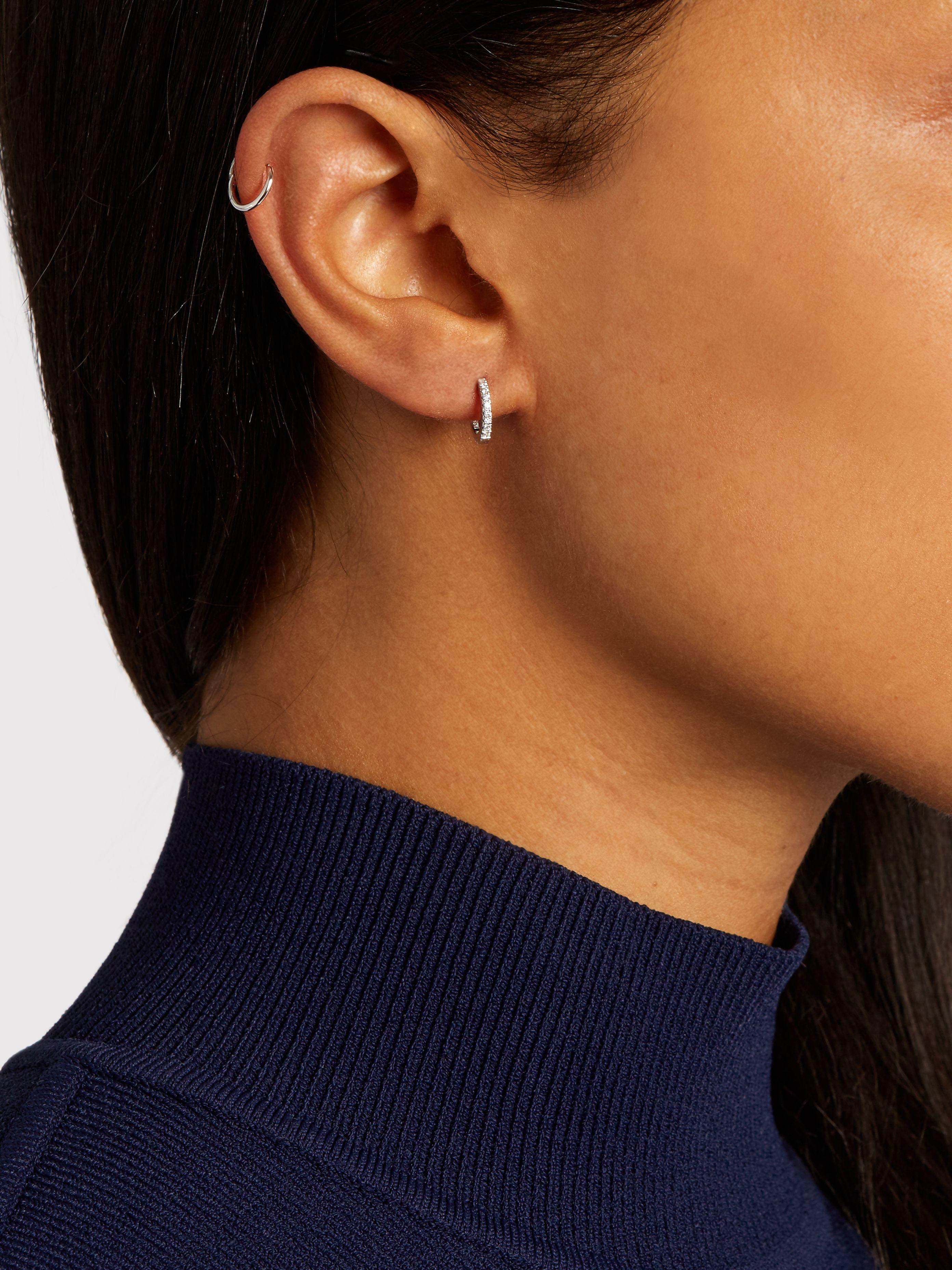 Maria Tash Akoya Pearl Cabochon Eternity 14kt yellow gold earring ffLk1vr4k