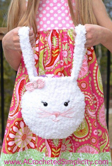 Pipsqueak Bunny Bag Free Crochet Pattern A Crocheted Simplicity Easter Crochet Patterns Easter Crochet Crochet Bunny