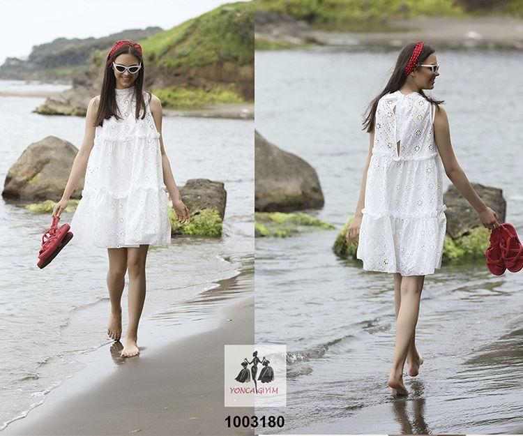 Fistolu Midi Boy Elbise Model Dresses White Dress