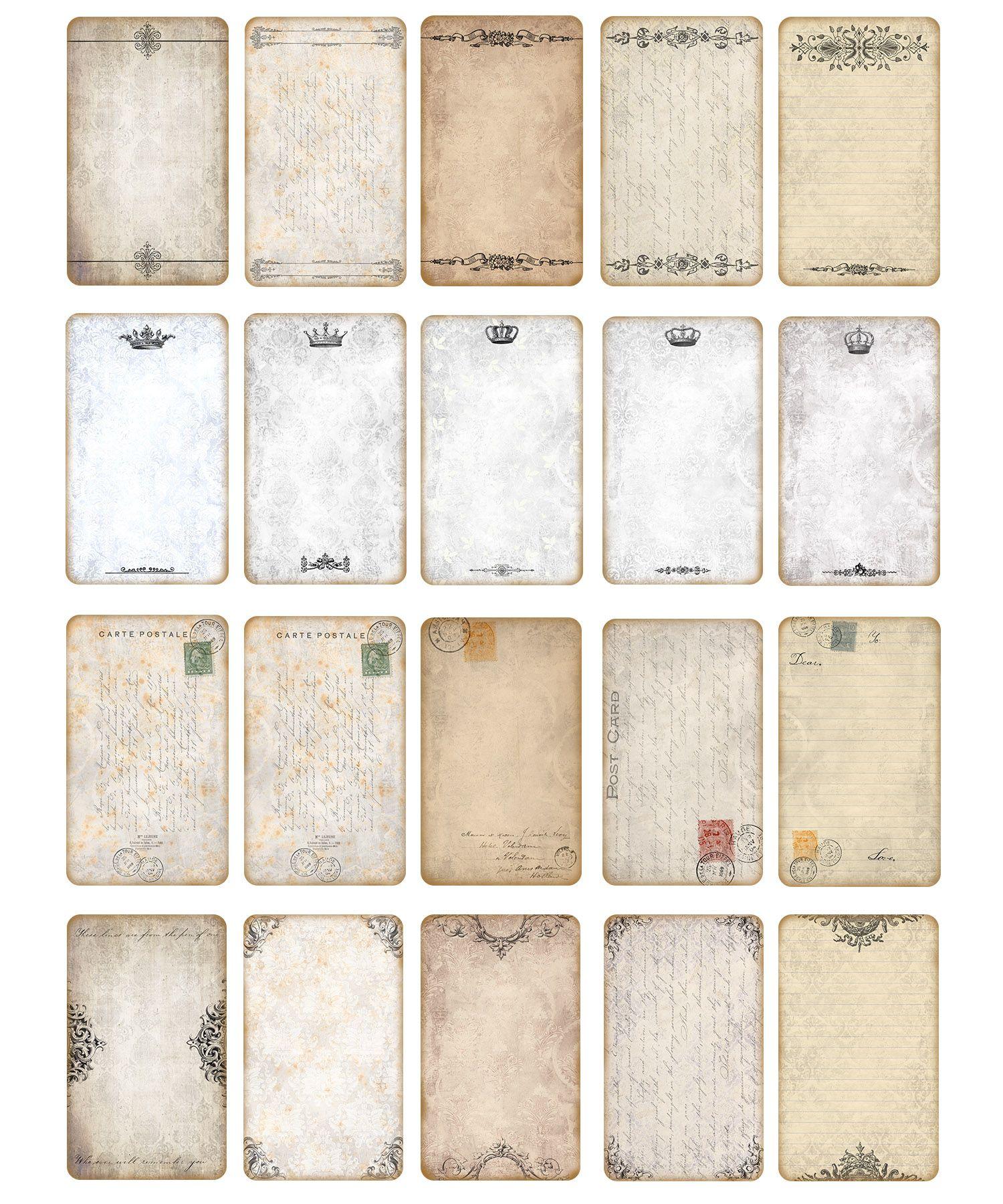 Editable Blank Vintage Labels Scrapbooking Ephemera Paper Craft Digital Collage Sh In 2020 Vintage Scrapbook Vintage Labels Printables Vintage Labels Printables Free