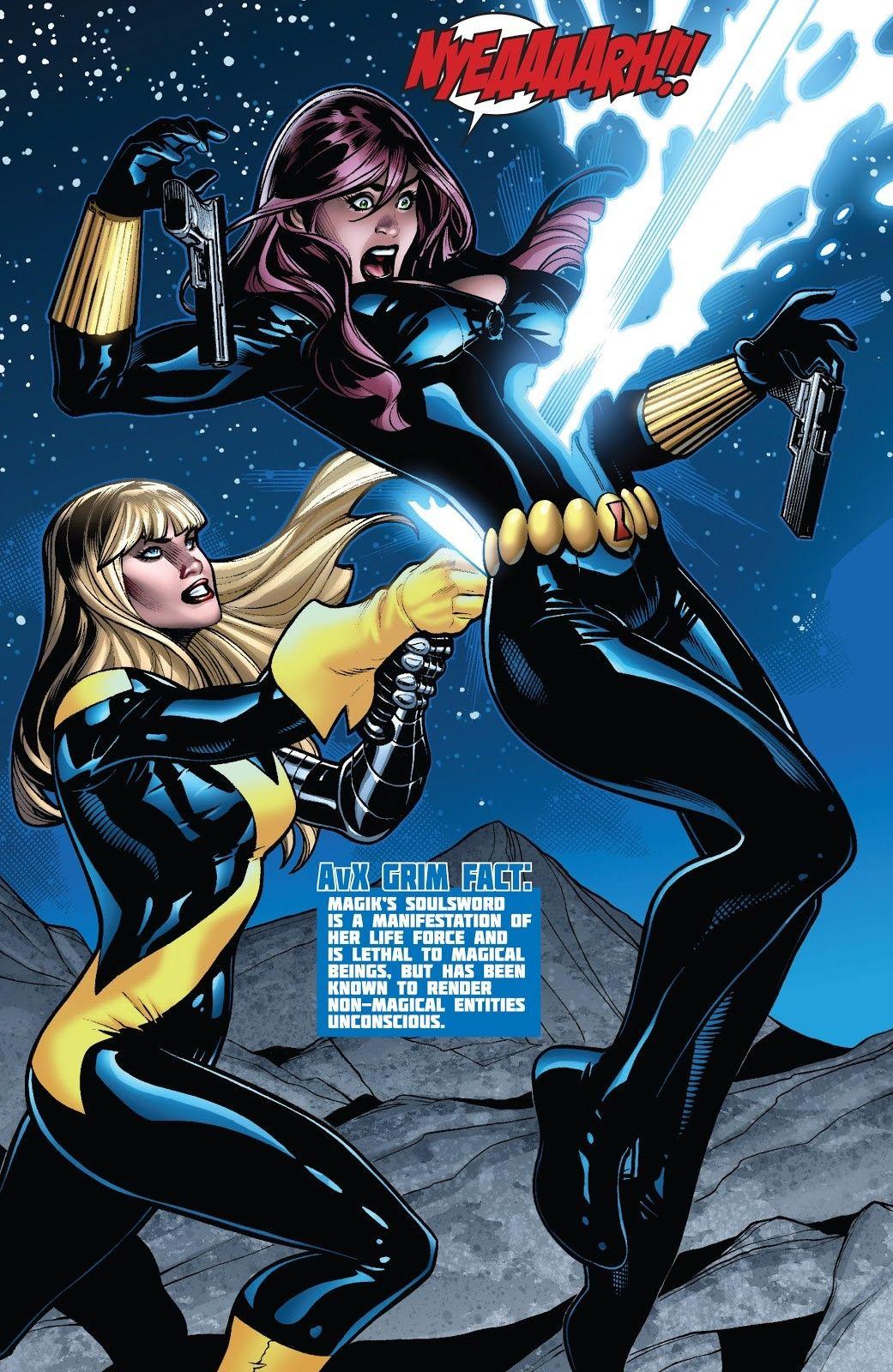 Black Widow Vs Magik Avx 3 Black Widow Marvel Marvel Comics Art Marvel Comics