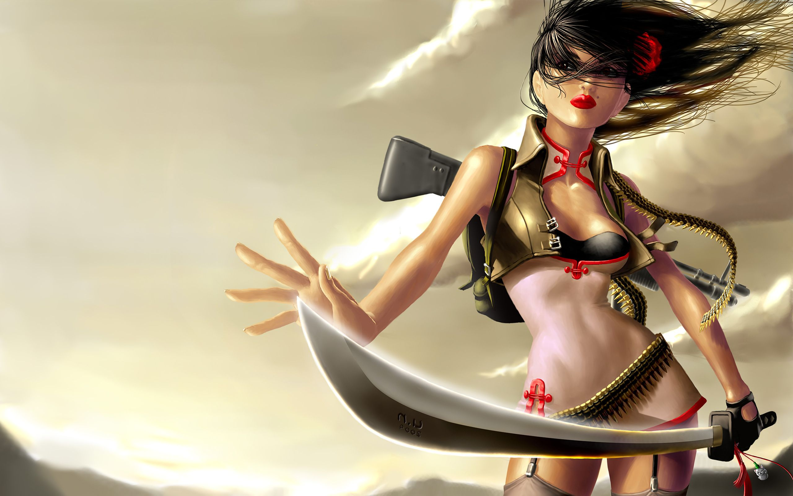 Magical Fantasy Hd Wallpapers That Will Take Your Breathe: Sword, Girl, Warrior, Sword