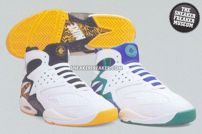 7d698b59933b ... Sneaker Freaker. Back in  93... Nike Air Tech Challenge Huarache