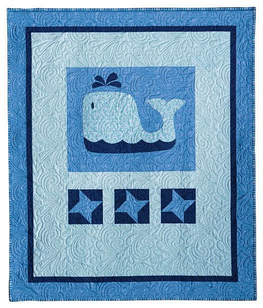 Nautical Fabric Quilt Kit Baby Beluga Baby Quilt By