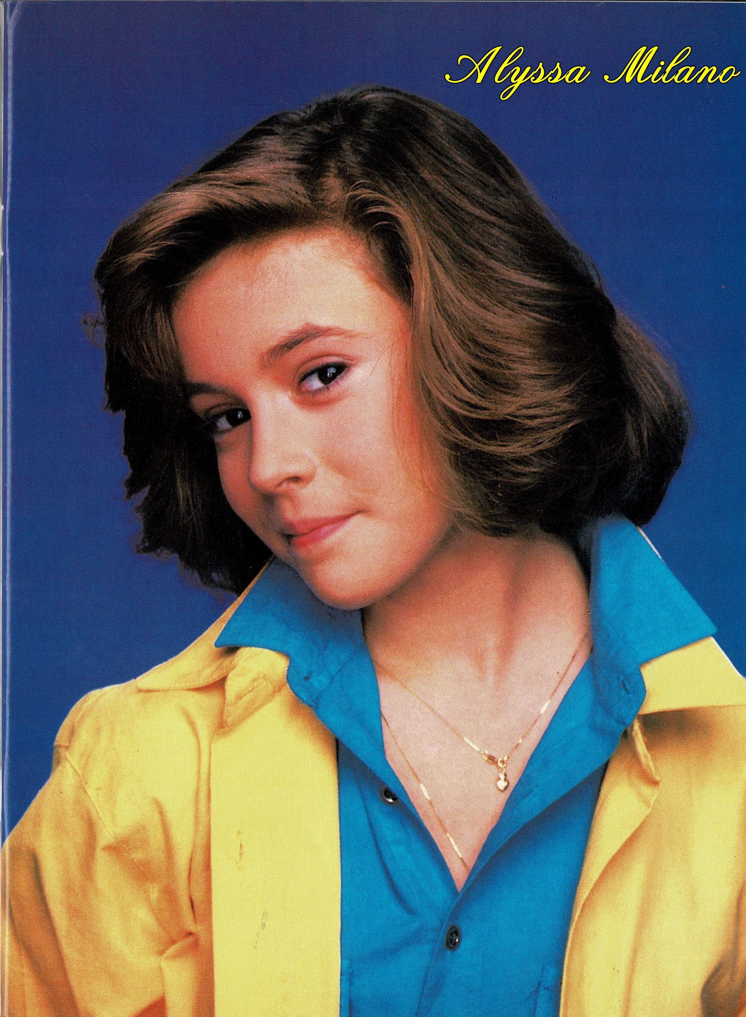 From Tv Movie Jr Magazine January 1987 Alyssa Milano Hair