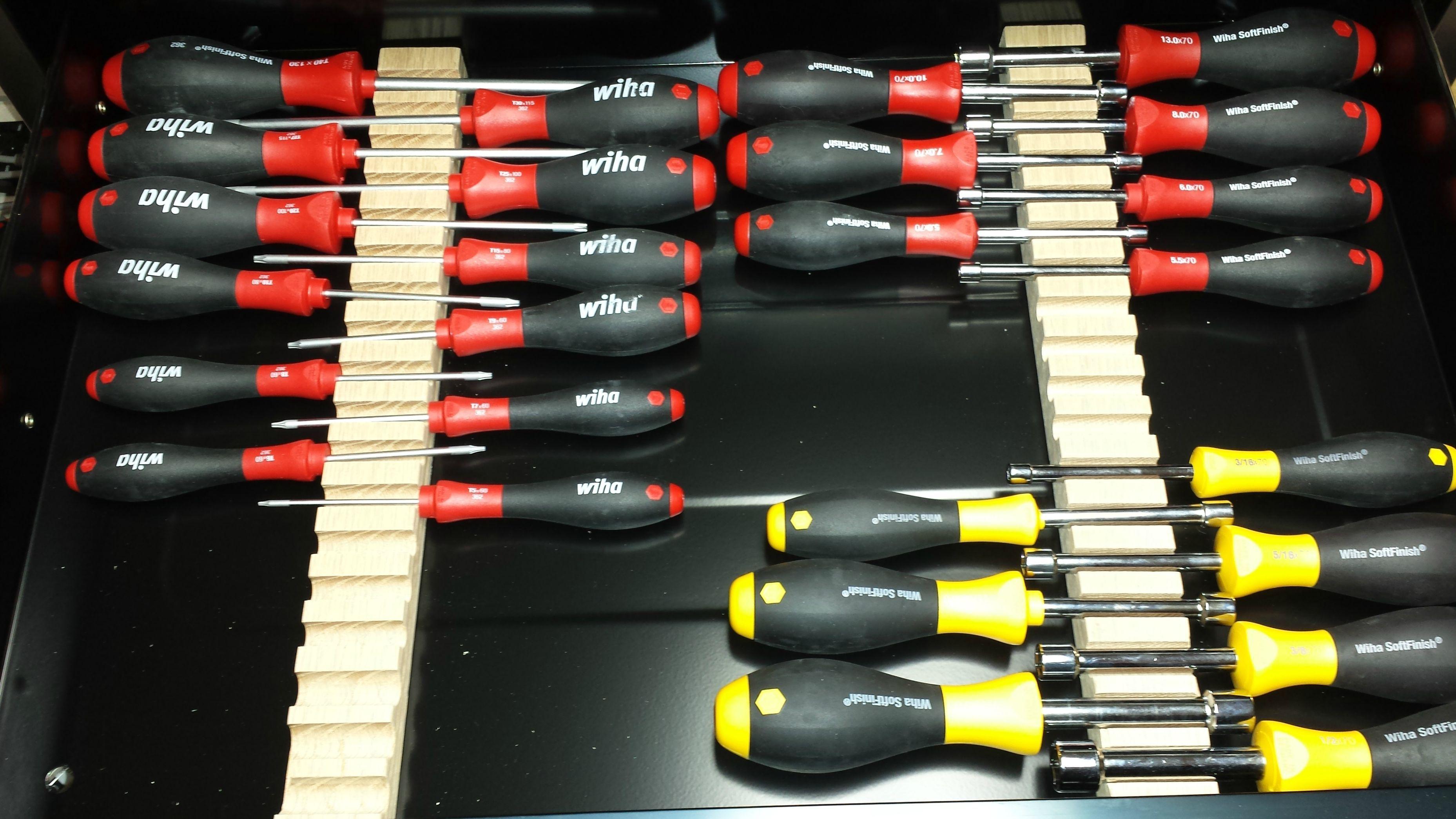 DIY Screwdriver Storage  idea rip slot and add
