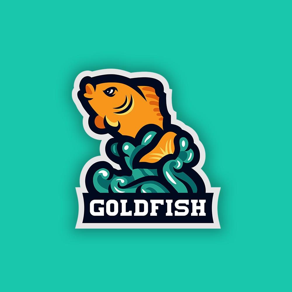 Goldfish Mascot Logo Animal Logo Fish Logo Goldfish