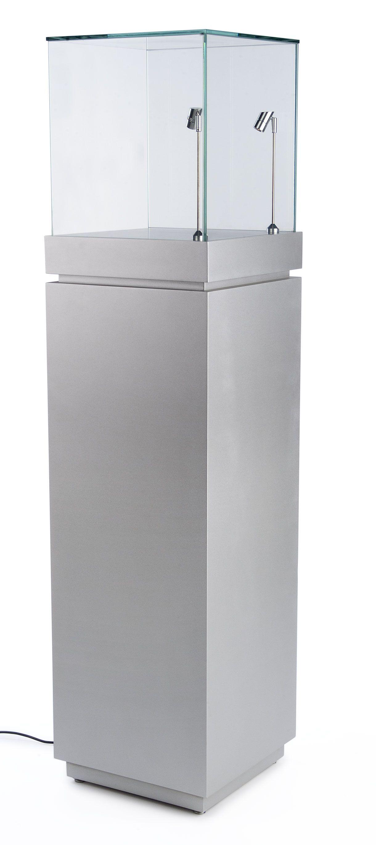 16 Pedestal Display Case W Cabinet Base Locking Drawer