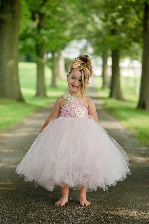 Light Pink flower girl tutu dress, Flower girl dress, tutu dresses ...