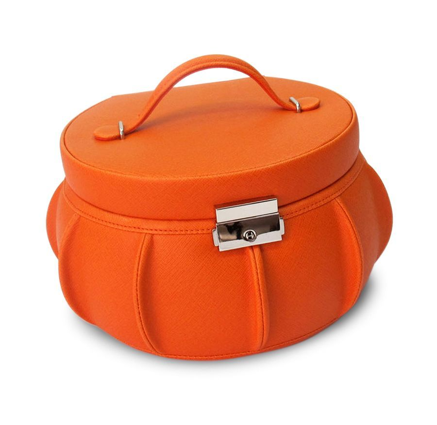 Furniture Cute Orange Jewelry Boxes For Teenage Girls With Lock