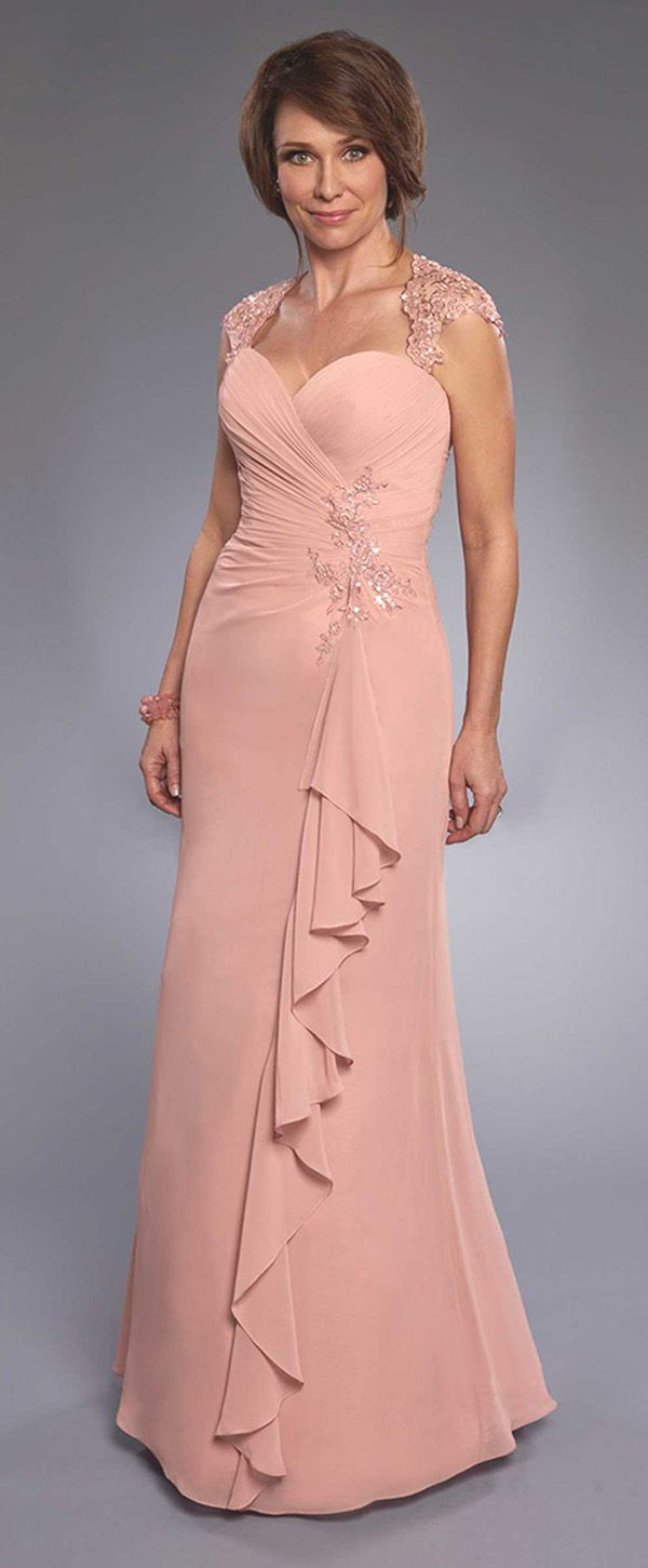 pink chiffon modern mother of the bride dresses