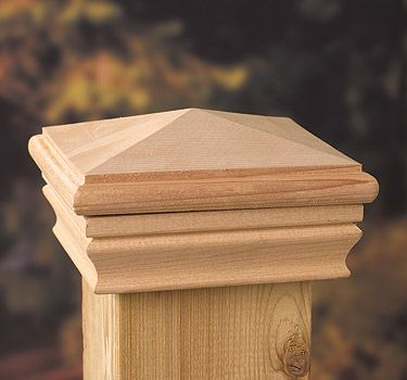 the high pyramid post cap elegant cedar it lend classic touch deck porch fence caps 4x4 uk 6x6 solar metal