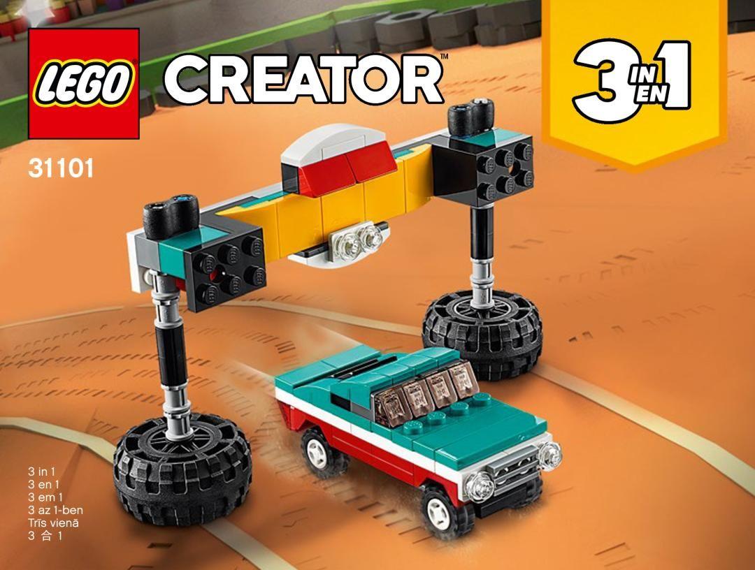 Building Instructions Instructions De Montage Lego 31101 Le Monster Truck Livre 2 Monster Trucks Building Instructions Lego