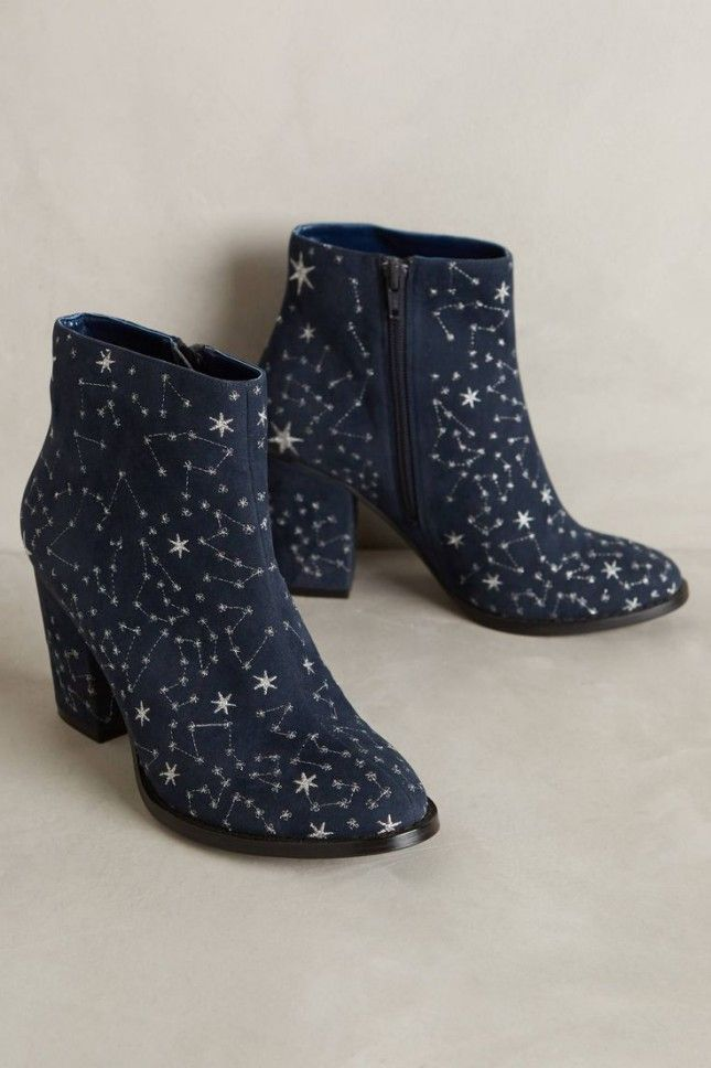 67e531ddc5dd22 Show your unwavering love for star gazing with these embroidered  constellation ankle booties that are after-hours approved.