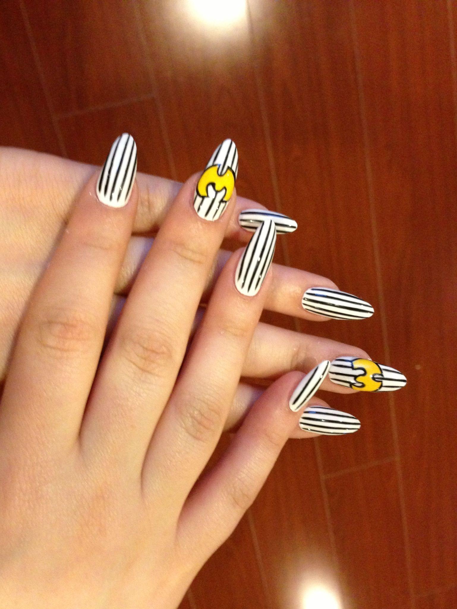 Wu-Tang Clan nails from Amy | Nail Designs | Pinterest | Wu tang ...