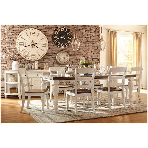 Marsilona Dining Room Table $595 ❤ Liked On Polyvore Featuring Stunning Plank Dining Room Table Design Decoration