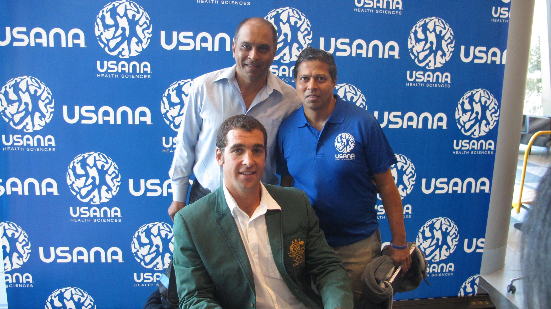 A rare moment with USANA sponsored athlete Tate Smith at the USANA