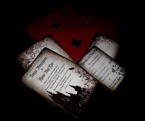 Tanya U0026 Rossu0027 Elegant Victorian Gothic Wedding. EinladungenDekoGothic  Hochzeit ...