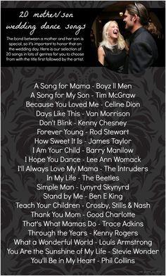 20 Mother Son Dance Song Ideas