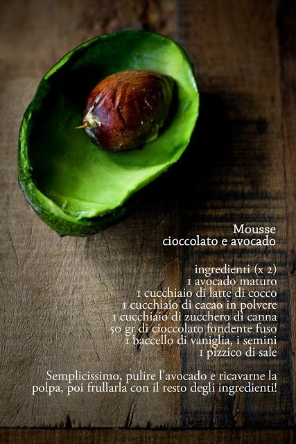 mousse cioccolato ed avocado