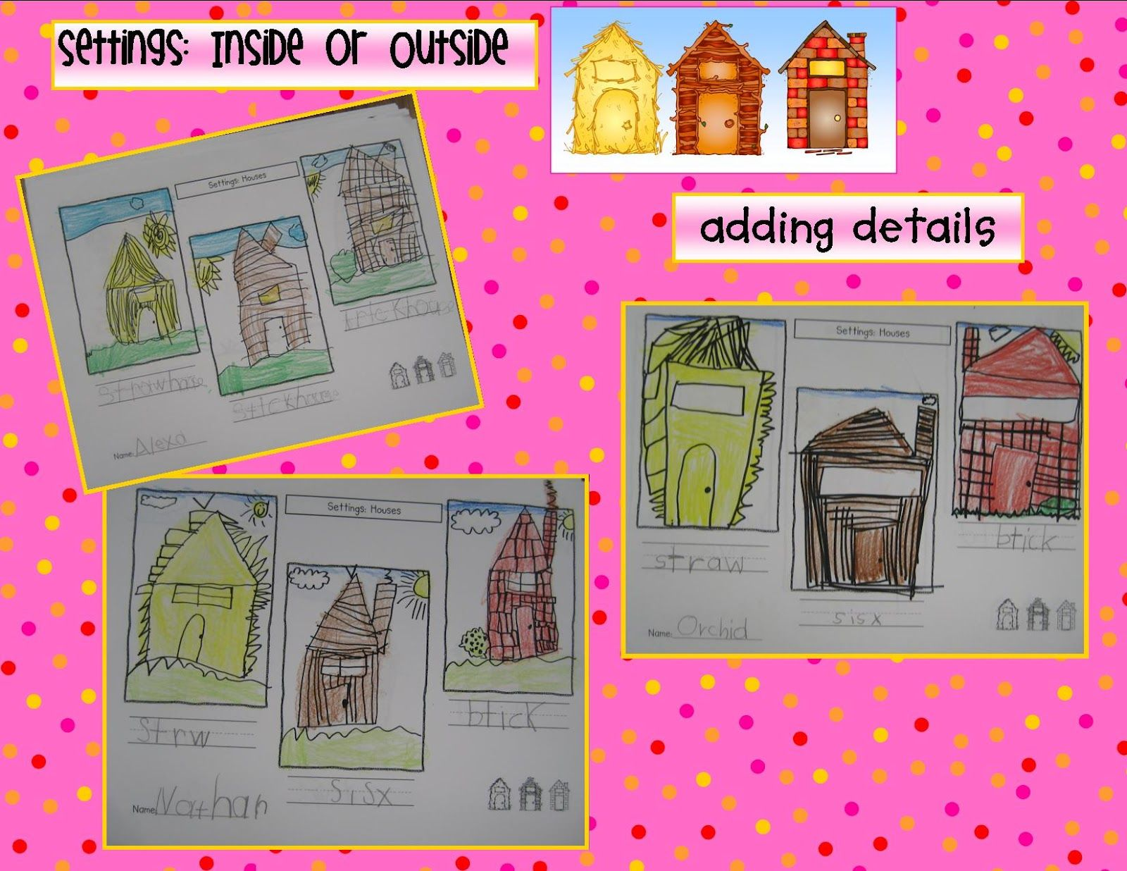 The 3 Little Pigs, setting, character, plot