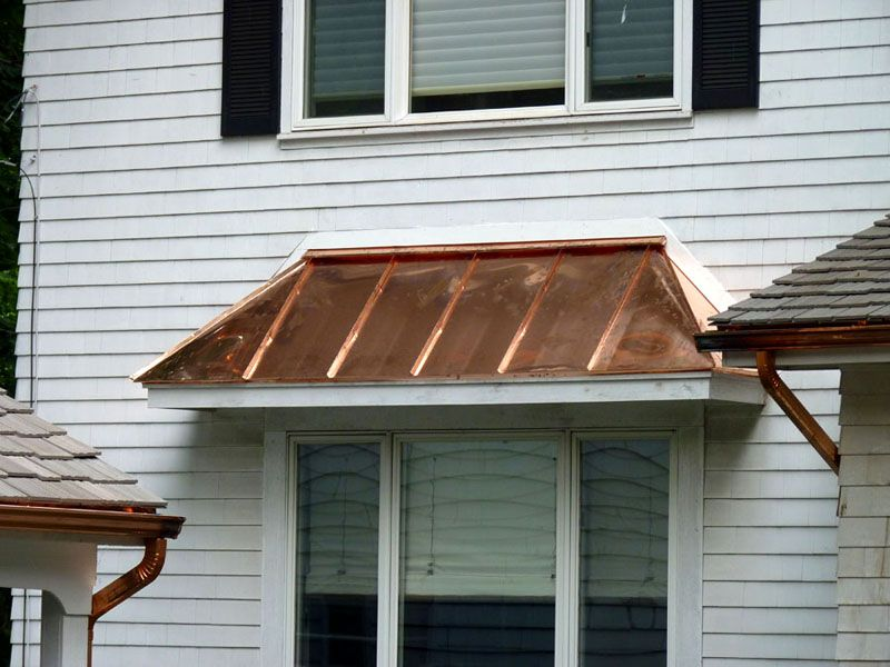 Types Of Residential Rain Gutters Copper Roof House Copper Roof Metal Awning
