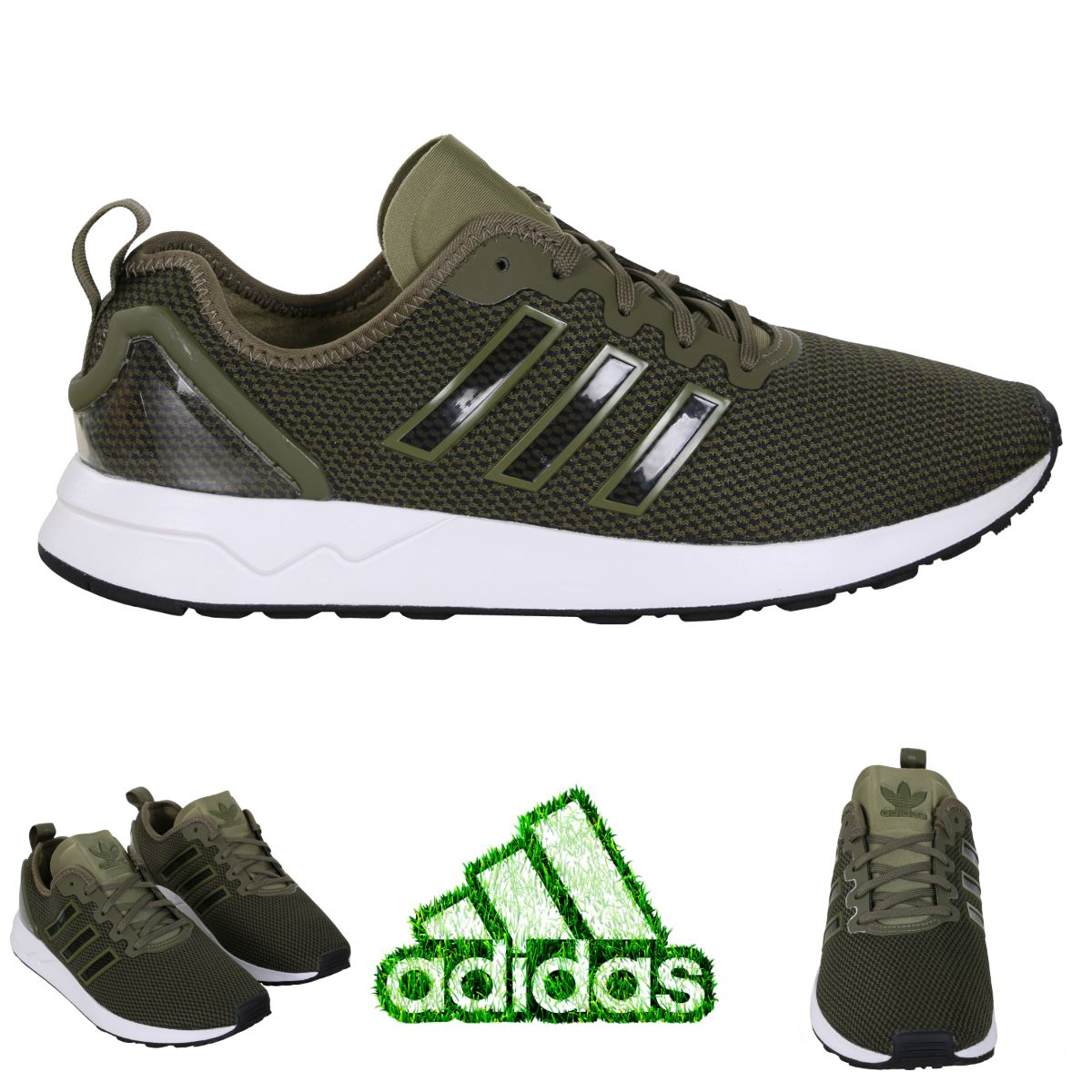 GO GREEN WITH ADIDAS ORIGINALS Adidas Shoes Zx Flux Adv Low Sneaker olive &  white ◼