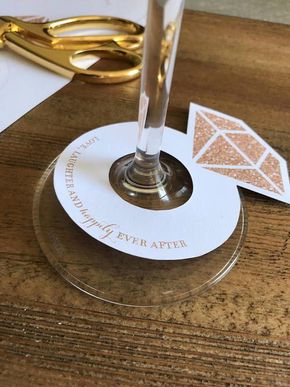 3e8fe6cdb7bd Diamond Ring Wine Glass Drink Tags . Printable Bridal Shower Wedding ...