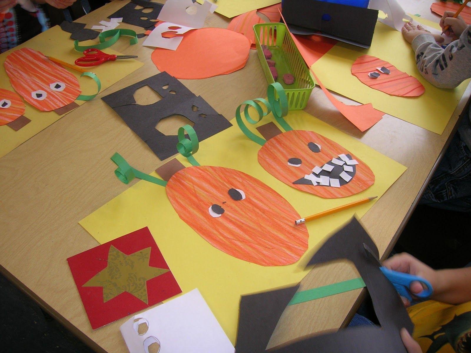 The Elementary Art Room!: First Grade Art // Silly Pumpkins | 1st ...