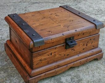 Wood Jewelry Box Rustic Watch Reclaimed