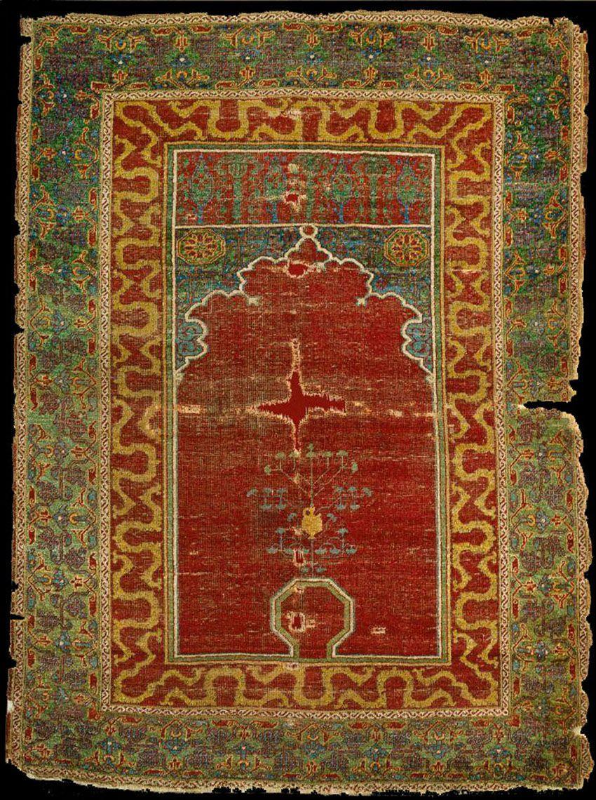 mamluk prayer rug c 1500 holding museum museum of islamic art at the pergamon museum berlin. Black Bedroom Furniture Sets. Home Design Ideas