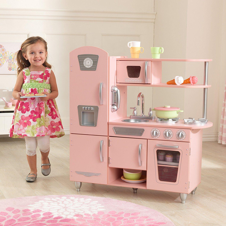 Kidkraft Cuisine Enfant En Bois Vintage Rose Amazon Fr Jeux Et