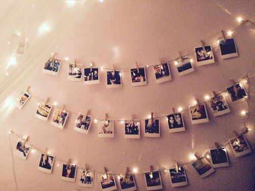 love photography girl lights cold style hipster vintage room ...