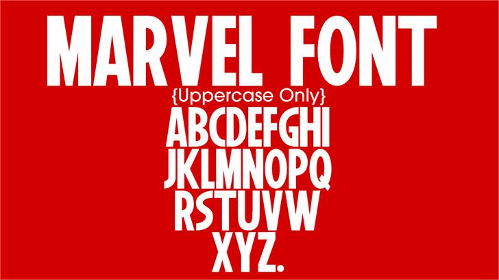 12++ Marvel fonts information