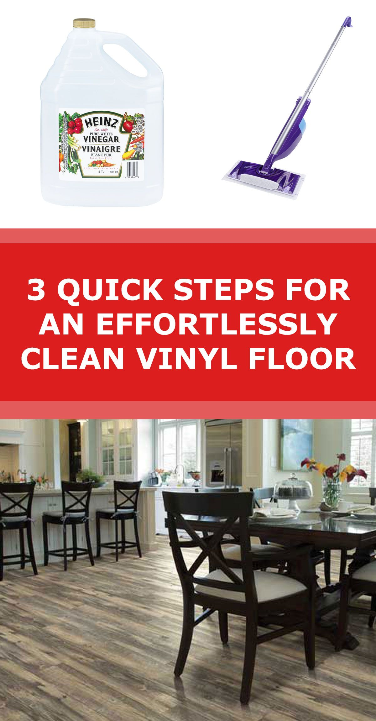 How To Clean Vinyl Flooring With My Secret Weapon