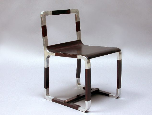 Giuseppe Pagano aluminum furniture ensemble