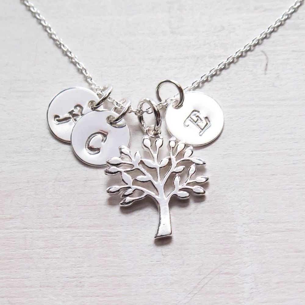family tree necklace gift for grandma personalized grandma