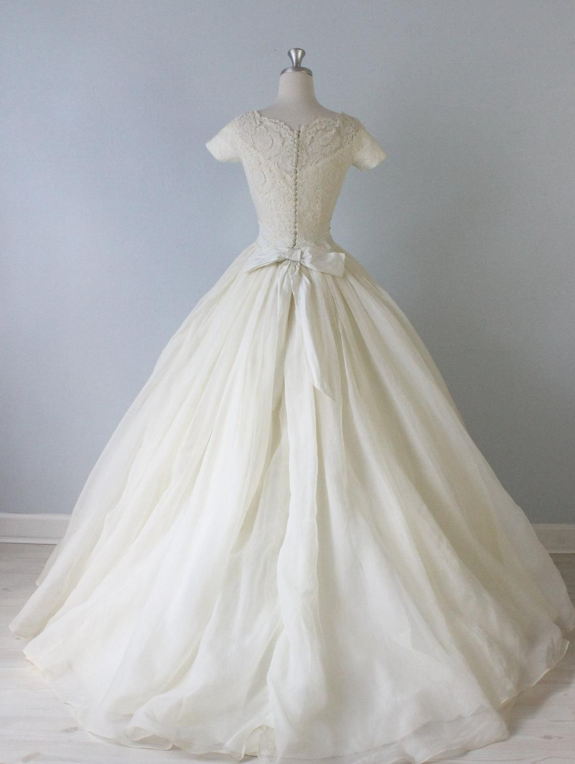 Vintage 1950s Ballgown Wedding Dress from The Vintage